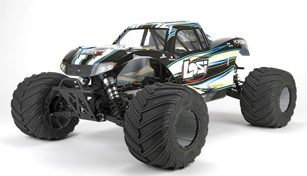 losi monster truck xl 1 5 4wd rtr noir los05009t1 miniplanes. Black Bedroom Furniture Sets. Home Design Ideas