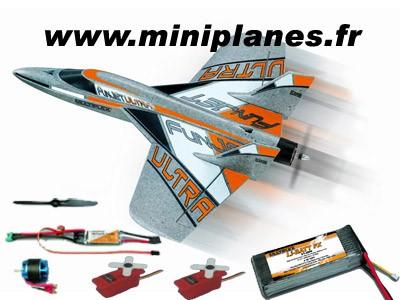 funjet ultra kit plus kit motorisation accu servos rr mpx 264245 miniplanes. Black Bedroom Furniture Sets. Home Design Ideas