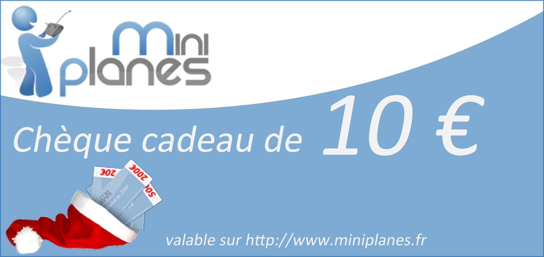 ch que cadeau 10 euros miniplanes gift 10mnpls miniplanes. Black Bedroom Furniture Sets. Home Design Ideas