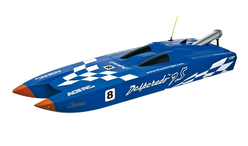 bateau desperado 7 5 bleu super combo radio 2 4g moteur pro46m mrc t5215f miniplanes. Black Bedroom Furniture Sets. Home Design Ideas