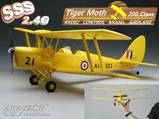 micro tiger moth rtf art tech art 21441 miniplanes. Black Bedroom Furniture Sets. Home Design Ideas