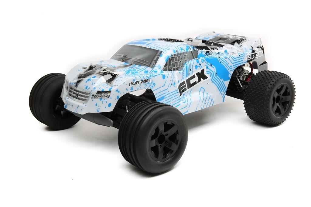 ecx circuit stadium truck 1 10 2wd rtr blanc bleu ecx03130it1 rh miniplanes fr