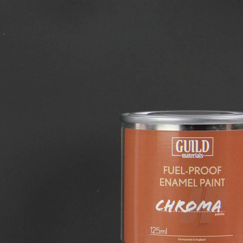 Peinture Chroma Matt Enamel (Résistant Carburant) Noir (Pot 125ml) - Guild Materials ...