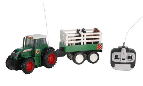 tracteur agricole 1 26 avec ses 6 animaux modelco mco 436301 miniplanes. Black Bedroom Furniture Sets. Home Design Ideas