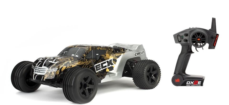 circuit 2wd stadium truck 1 10 noir argent rtr ecx03050it2 rh miniplanes fr