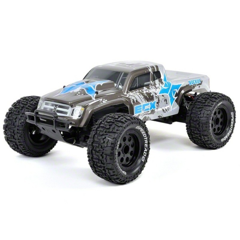 ruckus 2wd monster truck 1 10 antracite argent rtr ecx03051it1 miniplanes. Black Bedroom Furniture Sets. Home Design Ideas
