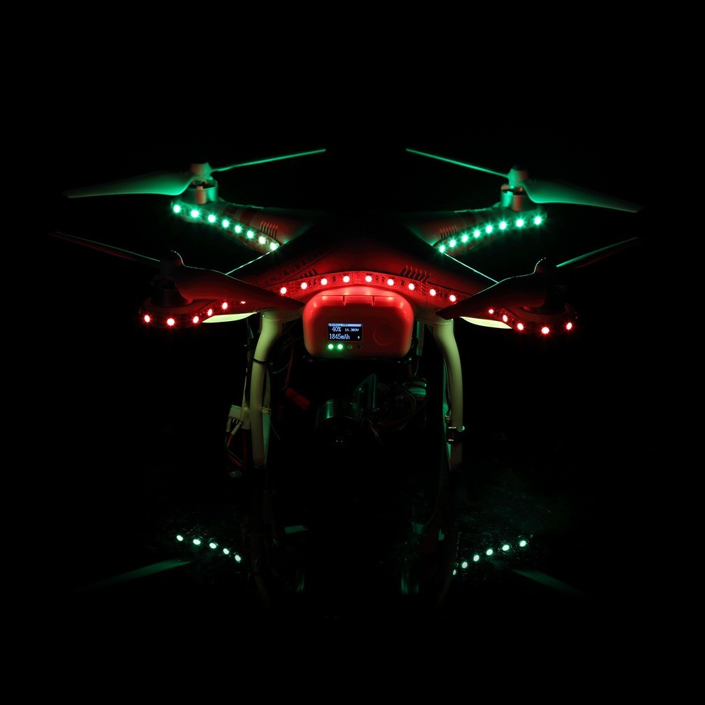 bande de led blanche pour phantom 3 dji028w miniplanes. Black Bedroom Furniture Sets. Home Design Ideas