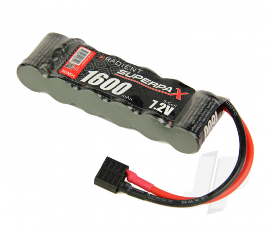 SuperpaX 2/3A 7.2V 6-Cell 1600mAh NiMH, SBS-Flat, HCT - RDNA0091