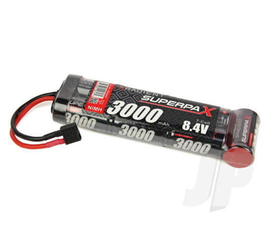 SuperpaX 8.4V 7-Cell 3000mAh NiMH, 6-1 Stick, HCT - RDNA0097