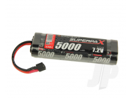 SuperpaX 7.2V 6-Cell 5000mAh NiMH, Stick, HCT - RDNA0102