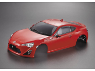 Carrosserie Toyota 86 195mm rouge Peinte - KB48569
