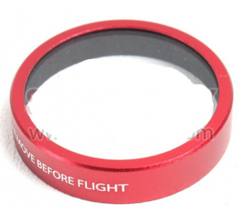 Lentille de protection rouge Phantom 3 / 4 DJI