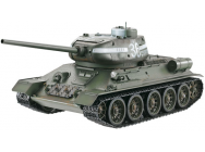 CHAR RC2.4GHZ 1/16 RUSSE T34-85 METAL + (BRUIT/FUMEE) 360° TAIGEN - TG3909-B