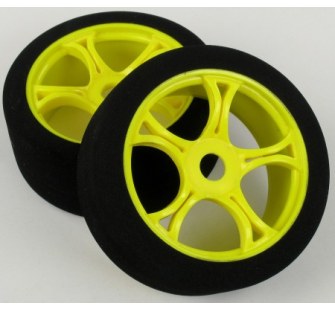 MV386Y RACING WHEELS & SPONGE TYRES(YELLOW)(2  jp-9923828 - JP-9923828
