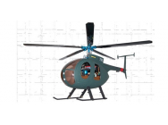 Fuselage Hugues 500D version army pour helico classe 400-45 - HA450HU003
