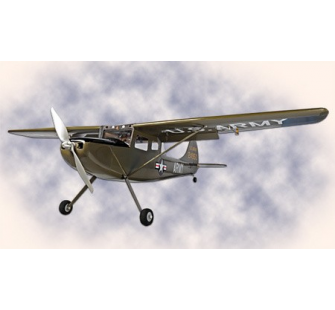Cessna O-1 Bird Dog 25e-class, couleur olive - HYP-HP-CESSNA-25-OL