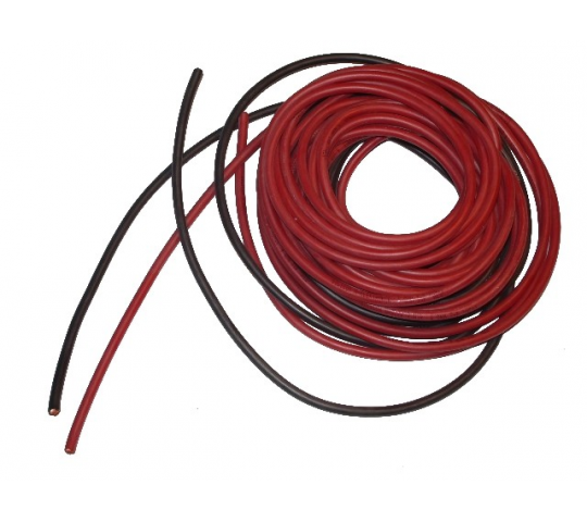 cable souple 1.6mm²-2x1m silicone Rouge+Noir (14AWG) DSK-14AWG - 14AWG