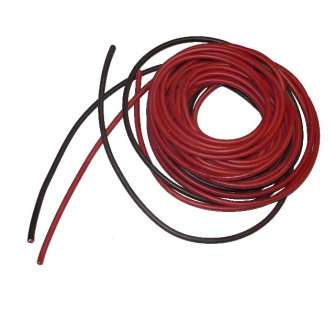 cable souple 1.3mm²-2x1m silicone Rouge+Noir (16AWG) DSK-16AWG - 16AWG