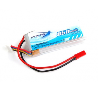 Xtreme Li-po Battery 11.1v 850mah, ( Twister skylift, Big Lama) - XTR-LP3S850BL