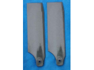 HP 500 Tail Blades - Midnight Black  70mm 4mm root - SLV-4058 - SLV-4058