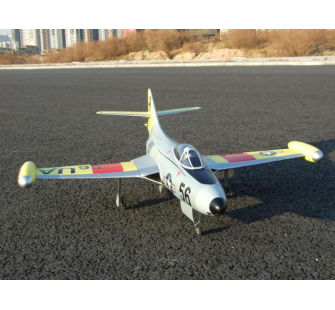 F9F Panther Gris Jaune Rouge Polycarbonate ARTF + - RCL-F9F-2-GYR-PC-ART