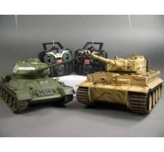 Pack Panzer Tiger I VS T-34/85   1:16 Combat Infrarouge et Fumee - AMW-23025