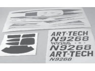Sticker Cessna 182 Brushless ART-TECH - ART-54044