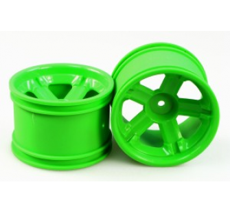 3338-P021 SPOKE WHEEL RIM (GREEN) paire - JP-9940628