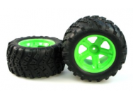3338-P022 WHEEL COMPLETE (GREEN) paire - JP-9940631