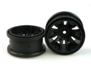 RCT-P009 SPOKE WHEEL RIM (BLACK) paire - JP-9940817