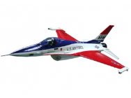 Avion F-16 FALCON couleur bleu/rouge/blanc kit ARTF - RIP-A-FR1101C