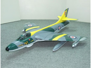 Hawker Hunter Jaune Kit nu - RCL-HWK01-RAFY
