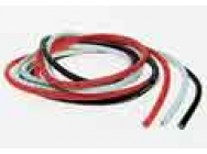 Fil blanc-rouge-noir 24AWG silicone 1m - JP-4409330