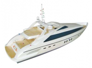 Bright Sun Luxury Yacht 1300GP260 (Pearl White) - RTR Avec Radio - VAN-GL301AP