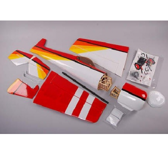 YAK 55 50E Rouge Blanc et Orange Planet Hobby ARF - OST-71883