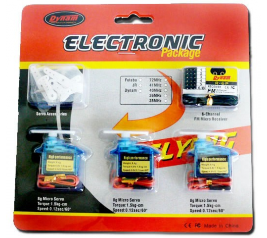 Flight Pack Dynam 1005 Park Flyer / indoor (servos 7gr) - DYN-1005