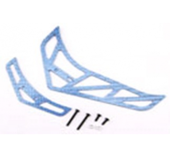 Fiber Tail Fins Set-Blue (For King 3 , Belt CP v2 / X) - ESK308-B - Xtreme - XTR-ESK308-B