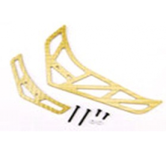 Fiber Tail Fins Set-Gold (For King 3 , Belt CP v2 / X) - ESK308-G - Xtreme - XTR-ESK308-G