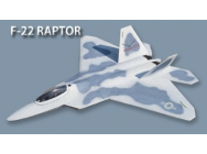 Jet F22 Raptor US Air Force long. 1.30m - FlyFly Hobby - FFH-FF-D003