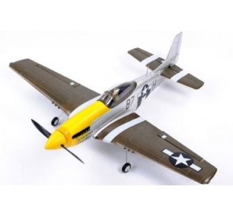 Mini P51 Yellow Silver Famous 2.4Ghz RTF - FMS-FS0075Y
