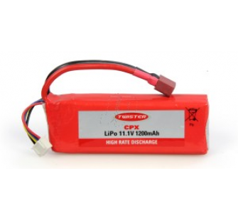Twister CPX Li-Poly 11.1V 1200Mah Pack - JP-6600296