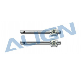 H45100 - Arbre Rotor Queue Metal. 450 Sport - ALG-1-H45100