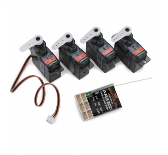 Flight Pack Spektrum micro AR6300 + 4servos - SPK-AR6300FP