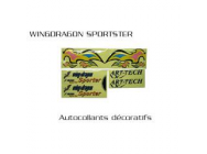 Stikers Wing dragon sporters ART TECH - ART-4016