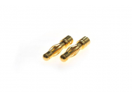 Connecteur : prise 4.0mm Male plaque or (10pcs) - BEE-BEEC2018M