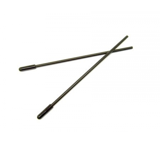 EA-003 - Mini Antenna Tube - Black (135mm x 4mm, 2 pcs) - XTR-EA-003