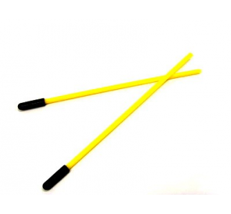 EA-005 - Mini Antenna Tube - Yellow (135mm x 4mm, 2 pcs) - XTR-EA-005