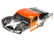 ECX Torment - Carrosserie Orange et Noir - Emectrix RC - HORI-ECX4002