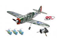 P-47C THUNDERBOLT 2.4GHZ MODE 1 RTF Go Fly RC - PRO-GO-160-RBL-M1
