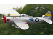 P-47 XXL Hun Hunter 1600mm Train Retractable Starmax ARF silver - STX-P08A-P47SI-ARF-H